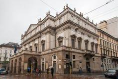 La Scala opera house stock photo