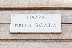 La Scala street sign Royalty Free Stock Image
