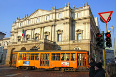 La Scala Theater in Milan Stock Photography