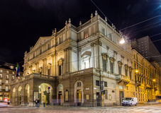 La Scala, un teatro dell'opera a Milano Fotografie Stock Libere da Diritti