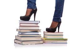 La scalata dei punti di conoscenza - concetto di istruzione Immagini Stock Libere da Diritti