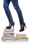 La scalata dei punti di conoscenza - concetto di istruzione Fotografie Stock