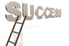 La scaletta all'oro di successo Immagini Stock