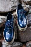 La scarpa degli uomini alla moda Fotografia Stock Libera da Diritti