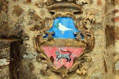从La Scarzuola的标志 图库摄影