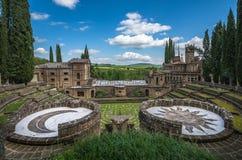 La Scarzuola, Tomaso Buzzi ideal city of Umbria, Italy Royalty Free Stock Images