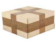 La scatola di cartone si è chiusa con nastro adesivo Immagine Stock Libera da Diritti