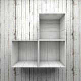 La scatola di legno accantona Fotografia Stock
