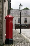 La scatola rossa luminosa fotografie stock