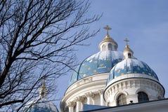 La scelta di Sobor Svyatoy Zhivonachalnoy Troitsy a St Petersburg, Russia Fotografia Stock Libera da Diritti