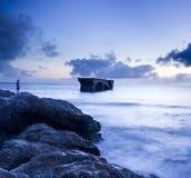 La scena calma della spiaggia Immagine Stock