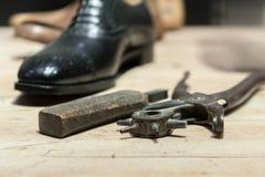 La scena del calzolaio Immagini Stock Libere da Diritti