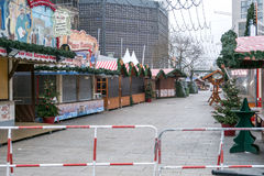 La scena del crimine al mercato di Natale a Berlino Fotografia Stock Libera da Diritti