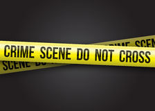 La scena del crimine non attraversa Immagini Stock