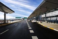 La scena della costruzione dell'aeroporto Immagini Stock Libere da Diritti