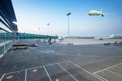 La scena della costruzione dell'aeroporto T3 Fotografia Stock Libera da Diritti