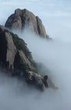 La scena della montagna gialla Fotografia Stock