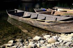 La scena della riva del fiume su vita rurale Fotografia Stock Libera da Diritti