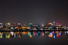 La scena di notte del lago ad ovest Fotografia Stock Libera da Diritti