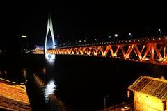 La scena di notte della città di Chongqing fotografia stock