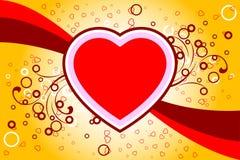 La scheda astratta con i rotoli, cuore del biglietto di S. Valentino modella, stars - il vect illustrazione di stock