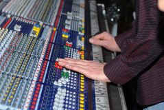 La scheda audio Fotografia Stock