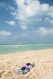 La scheda dei surfisti del cervo volante Fotografie Stock