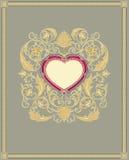 La scheda del biglietto di S. Valentino. Fotografia Stock