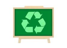 La scheda del sughero ricicla il concetto di affari del grafico di marchio Fotografie Stock