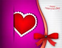 La scheda dell'invito di giorno del biglietto di S. Valentino s Immagini Stock Libere da Diritti