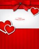La scheda dell'invito di giorno del biglietto di S. Valentino s Immagine Stock
