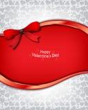 La scheda dell'invito di giorno del biglietto di S. Valentino s Fotografie Stock Libere da Diritti
