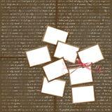 La scheda FO del Brown progetta con i francobolli Fotografie Stock Libere da Diritti