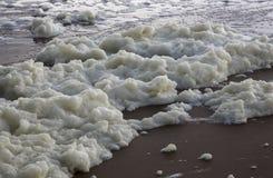 La schiuma del mare Fotografie Stock