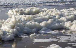 La schiuma del mare Immagini Stock Libere da Diritti
