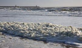 La schiuma del mare Fotografia Stock Libera da Diritti