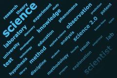 La Science 2.0 - backgorund Image libre de droits