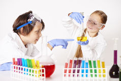 La science chimique photographie stock