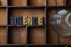 La Science définie avec en bois composé Photo libre de droits