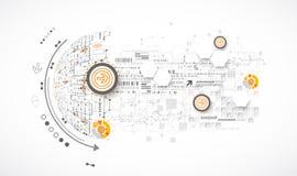 La science de couleur ou fond abstraite de technologie illustration stock