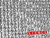 la Science de 3D Word à l'intérieur de différents blocs de lettres Image libre de droits
