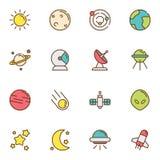 La science de l'espace et astrologie Images libres de droits