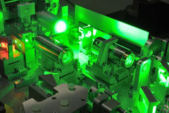 La science de laser Photographie stock libre de droits