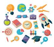 La Science et collection d'icônes d'études illustration de vecteur