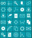La science et graphiques d'icônes de vecteur Photographie stock libre de droits