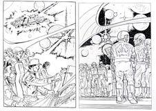 La science-fiction dessine illustration stock