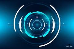 La science fiction HUD Dashboard Display futuriste Écran de technologie de réalité de Vitrual Photos stock
