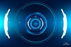 La science fiction HUD Dashboard Display futuriste Écran de technologie de réalité de Vitrual Images libres de droits
