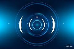 La science fiction HUD Dashboard Display futuriste Écran de technologie de réalité de Vitrual Photographie stock libre de droits