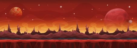 La science fiction large Martian Background For Ui Game d'imagination illustration stock